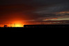 Sunset over Heck as an unidentified HST passes on the rear of 1S24 16::00 LKX - Aberdeen, 24/10/14
