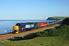 37409 ctaches the early morning sun as it heads south from St Bees on 2C32 05:15 Carlisle - Preston, 10/06/15