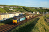 57012 passes Parton on 6C46 19:31 Sellafield - Carlisle 'flasks' unusually working solo due to lack of available traction at DRS Sellafield, 10/06/15<br /> **Taken using a pole