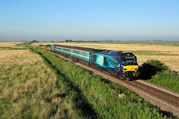 68016 nears Reedham on 2C35 18:47 Great Yarmouth - Norwich, 19/07/16