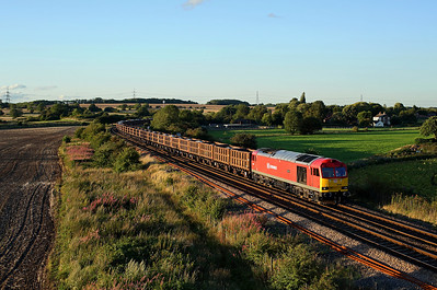60044 catches the last of the late summer sun as it passes Burton Lane on 6D15 14:11 Redcar - Scunthorpe, 15/08/17