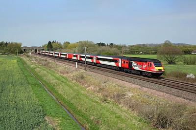 43274 passes Burn on 1E11 07:52 Aberdeen - LKX, 21/04/18 *Taken using a pole