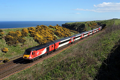 43316 passes Lamberton on 1S16 12:00 LKX - Inverness, 05/05/18