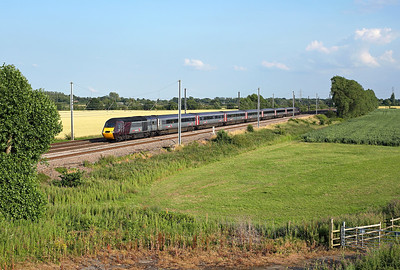 43357 passes Overton Grange on 1S51 12:25 Plymouth - Glasgow C, 16/07/19 *Taken using a pole