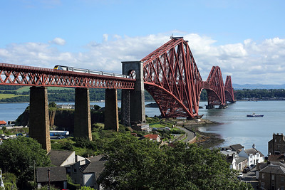 An unidentified HST crosses the Forth bridge at North Queensferry on 1A77 16:05 Edinburgh - Aberdeen, 14/07/19