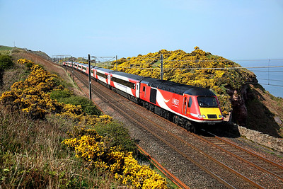 The Sunday diagrams give the best chance to photograph an HST running along the cliff section. 43309 passes Lamberton on 1E19 SuO 11:47 Aberdeen - LKX, 21/04/19