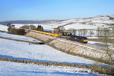 66425 nears Horton in Ribblesdale on 6K05 12:46 Carlisle - Crewe BH engineers, 23/01/19