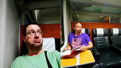 On the way back to Munich, feeling super fancy-pants having a first-class train cabin all to ourselves.