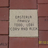The Easterla family brick on the Muscatine riverfront  ( 2003 )