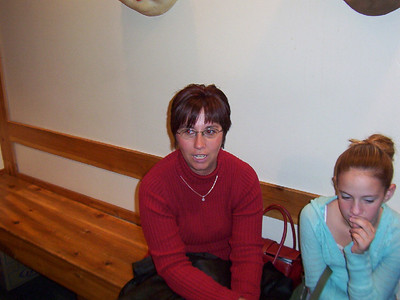 Lori and Jessica waiting to eat  ( 2004 )