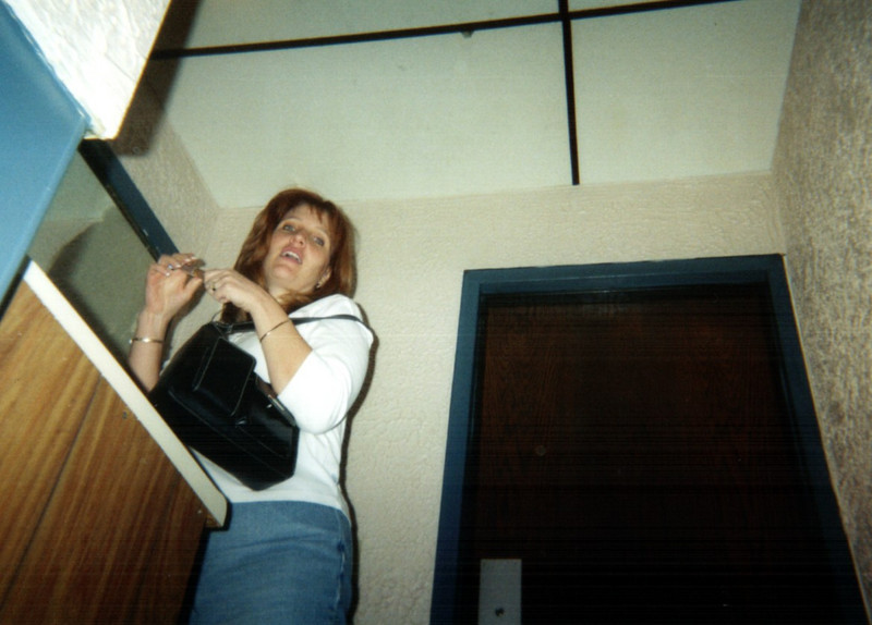 Patti in the restroom  ( 2004 )