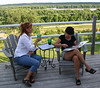 Patti and Lori on the Brooke deck.  ( 2004 )