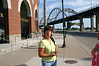 Lori outside of John O'Donnel Stadium before a Lee Insurance outing  ( 2005 )