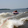 Alex and Bryce tubing on Red Rock Lake  ( 2005 )