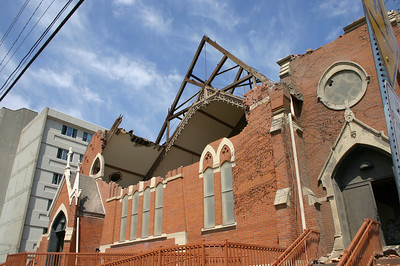 The roof was blown off of this church  ( 2006 )