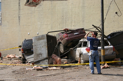 Cars piled on top of each other  ( 2006 )