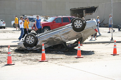 Car on its top from the tornado  ( 2006 )