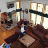 Looking down at Lori, Bruce and Angie from the upstairs balcony of our rented condo at Eagle Ridge.  ( 2008 )