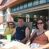 Bruce, Todd and Patti poolside before the concert  ( 2008 )