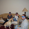 Patti, Bruce and Todd have their 3D glasses on for the special superbowl comercials. The puggles are wondering what's going on.  ( 2009 )