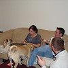 Patti, Bruce, Todd and the puggles are enjoying the food and the game.  ( 2009 )