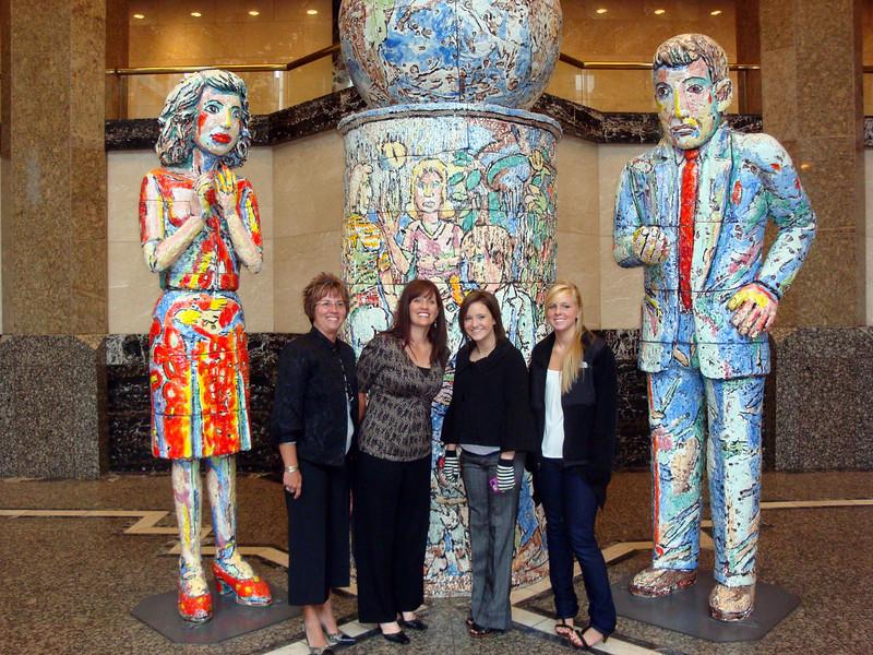 Lori, Patti, Jessica and her friend at 801 plaza in Des Moines ( 2009 )