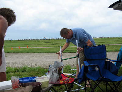 Todd setting up a game to play while tailgating ( 2010 )