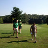 Bruce, Patti and Todd playing golf in Kalona ( 2010 )