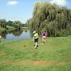 Patti and Lori playing golf in Kalona ( 2010 )