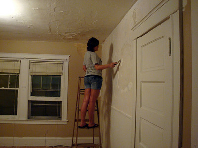 The princess works on scraping the plaster in their bedroom ( 2010 )