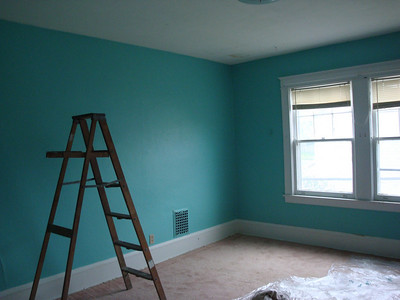 The newly painted bedroom ( 2010 )