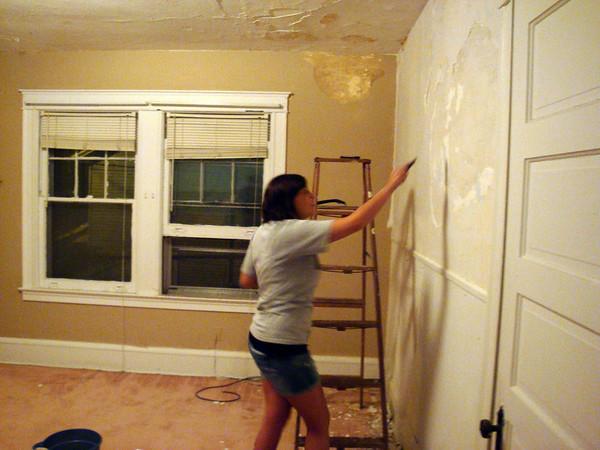 Erin working in the bedroom ( 2010 )