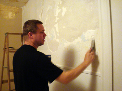 Todd fixing the plaster ( 2010 )