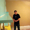 Alex painting some wild colors in the bedroom ( 2010 )