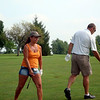 Nancy and Troy in the annual Brew golf tournament ( 2011 )