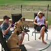 Louie, Zach, Buster and Patti on the patio before the concert ( 2011 )