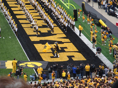 Herky at the Hawkey game ( 2011 )