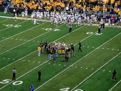 The coin toss at Kinnick ( 2011 )
