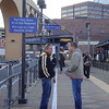 Mark and Todd waiting for the subway in Minneapolis Minnesota ( 2011 )