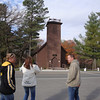 Mark, Cindy and Todd arrive at the Little Brown Church in Nashua on their trip to Minnesota ( 2011 )