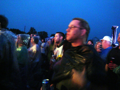 Todd and Alex watching Cheap Trick in the rain at Riverside Casino ( 2012 )