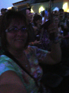 Lori waits in the rain for Cheap Trick to play at Riverside ( 2012 )