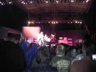 Cheap Trick performs in the rain at Riverside Casino ( 2012 )