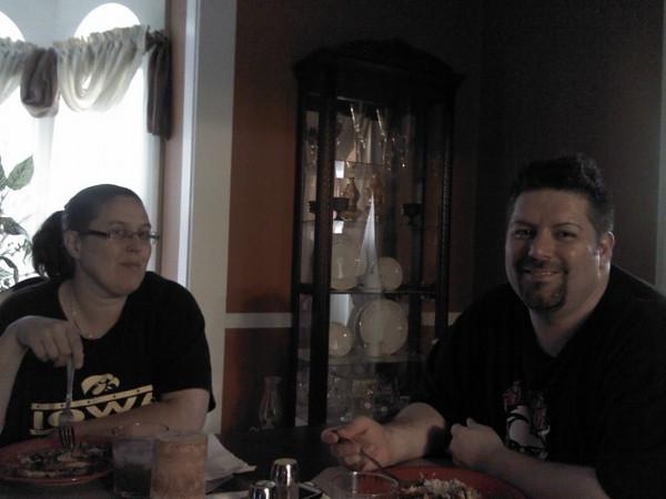 Shari & Mario enjoying dinner