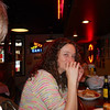 Bobbi has a burger at Durty Gurt's in Galena ( 2013 )