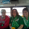 Todd, Shari and Lori ride the party bus for St.Patty's Day ( 2015 )
