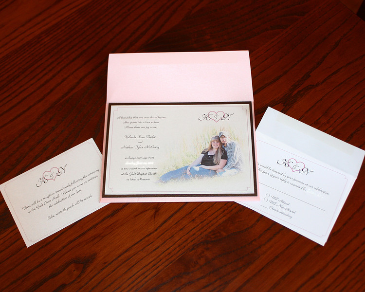 Kali's invites - This is what I've been working on lately...wedding invites for my niece.  They are all ready to be shipped off to her now, so she can stuff the envelopes and address them...and then get them mailed.