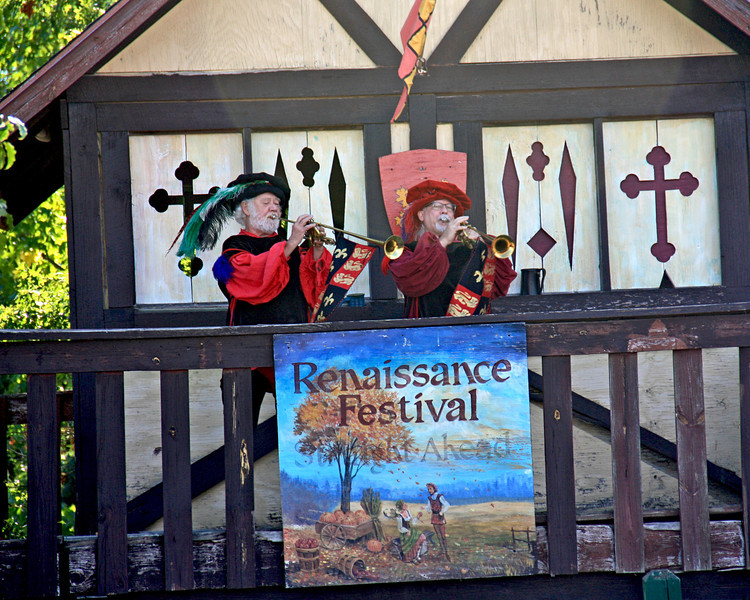 Announcing the arrival of the King and Queen...fun at the renfest!