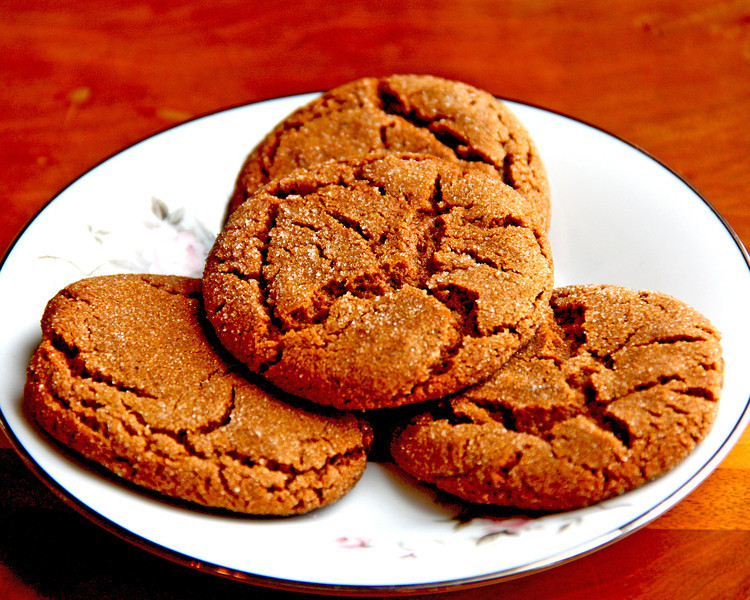 Molasses Cookies - One of our nieces found the recipe for these cookies online somewhere and made them last year...I took the ginger out, cause I don't like ginger in deserts, and make them now and then for our freezer.  I think of her every time I do, even if I did modify the recipe.  They are good...not as good as the death by chocolate cookies, but a nice change!  :-))