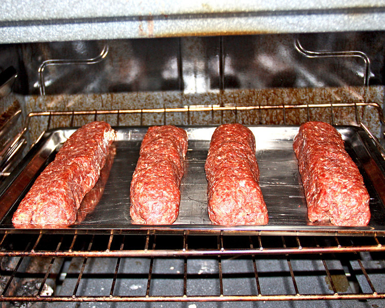 Summer Sausage - I also just got some summer sausage mixed up and into the oven...found a packet of spices for it at the Amish and thought I would try it.  :-))